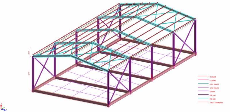 Bureau d 39 tudes techniques et conduite de travaux aix - Calcul d un hangar en charpente metallique ...